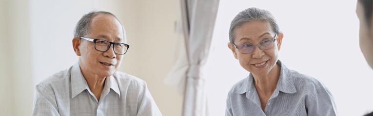 older couple listening to advice